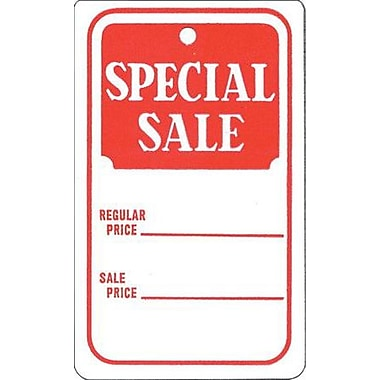 Unstrung Special Sale Tag, Red/White, 1 3/4