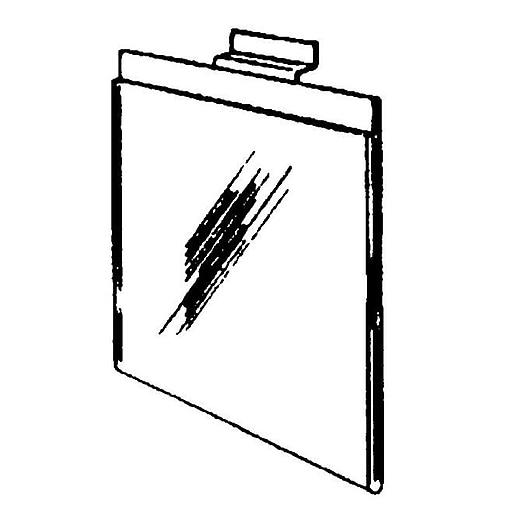 "Acrylic Slatwall Sign Holder, 7"" x 11"""