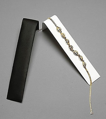 Velvet Necklace/Bracelet Ramp Display, Black