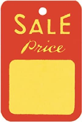 """""Unstrung Sale Tag, Red/Yellow, 1 1/4"""""""" x 1 7/8"""""""""""""" 215834"