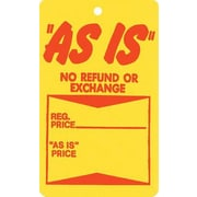 "Strung As Is Tag, Red/Yellow, 1 3/4"" x 2 7/8"""