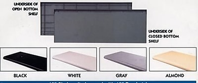 "NAHANCO 36"" x 15"" Closed Bottom Bullnose Shelf, 4/Pack"
