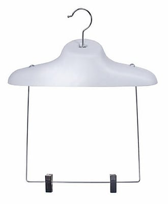"""NAHANCO 17"""" Economical Shaper Display Hanger With 13"""" Drop, White"""