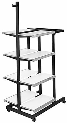 NAHANCO Designer 402 Double Sided Frame Rectangular Tubing Garment Rack, Black/White