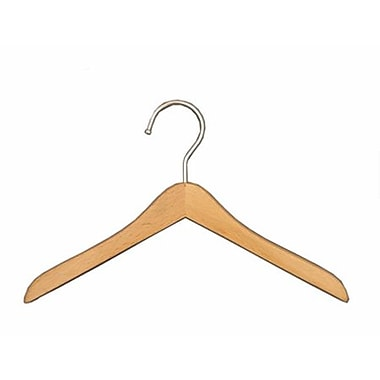 Mini Wooden Top Hanger, Chrome Hook, 8