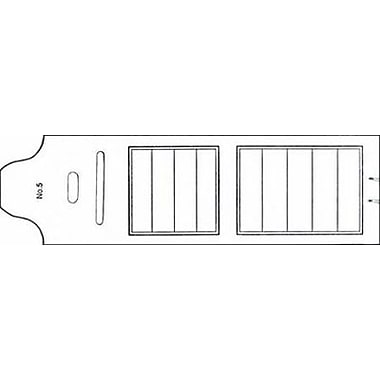 Folding Pin Ticket, White, 4 5/8
