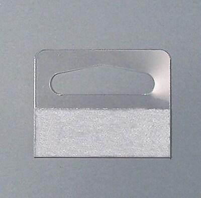 NAHANCO Wide Pressure Sensitive Package Hanger, 100/Pack, 100/Pack