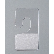 NAHANCO Pressure Sensitive Package Hangers, 500/Pack, 500/Pack