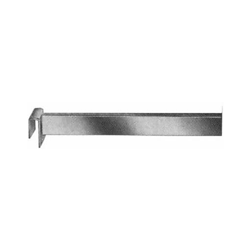 Rectangular Tubing Straight Arm Faceout, Chrome, 6""