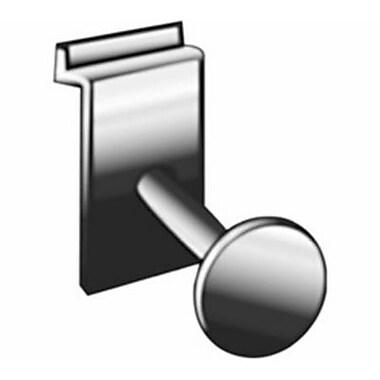 Slatwall Single Garment Hook, Chrome, 3