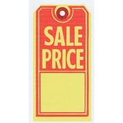 "Sale Tag, Red/Yellow, 2 5/8"" x 5 1/4"""