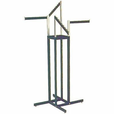4 Way Rectangular Tubing Garment Rack With 2 - 16