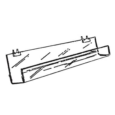 Video Shelf With Tilt Back For Slatwall, 24