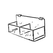 """Acrylic Double Hosiery Bin For Pegboard, 15 1/4"""""""
