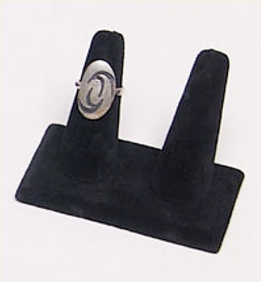 Velvet Double Ring Display, Black