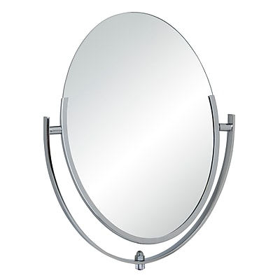 Econoco 1014 Double-Sided Counter Oval Mirror, Chrome, 10