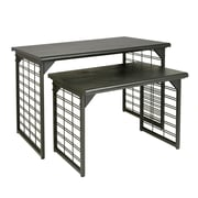 Econoco A325/MAB Nesting Display Table, Slat Grid, Black, Matte