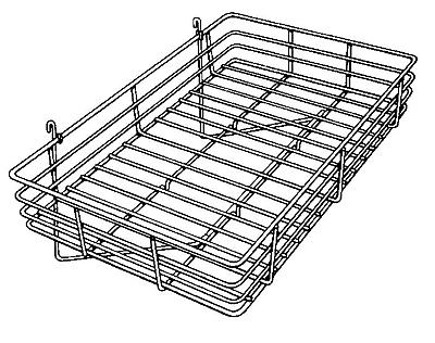 Econoco GWS/92 Gridwall Basket, Chrome, 4 1/2
