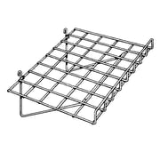 "Econoco BLKS/93 15"" x 24"" Gridwall Straight Shelf with Front Lip, Metal"