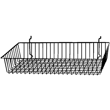 Econoco BSK11/EC Shallow Basket, Epoxy Chrome, Semi-Gloss