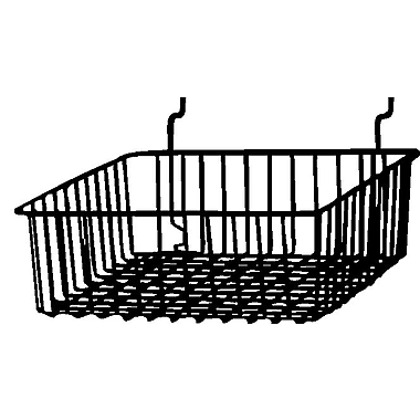 Econoco BSK13/B Small Basket, Black, Semi-Gloss