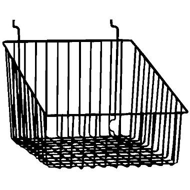 Econoco BSK14/B Sloped Front Basket, Black, Semi-Gloss