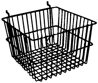 Econoco BSK15/B Deep Basket, Black, Semi-Gloss