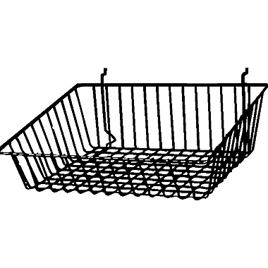 Econoco BSK16/EC Sloping Basket, Epoxy Chrome, Semi-Gloss