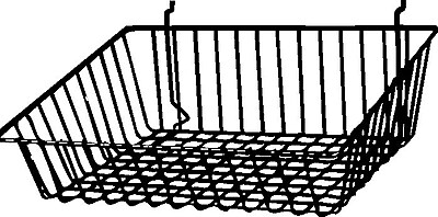 Econoco BSK16/B Sloping Basket, Black, Semi-Gloss