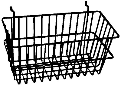 Econoco Bsk17/W All-Purpose Narrow Basket, White, Semi-Gloss