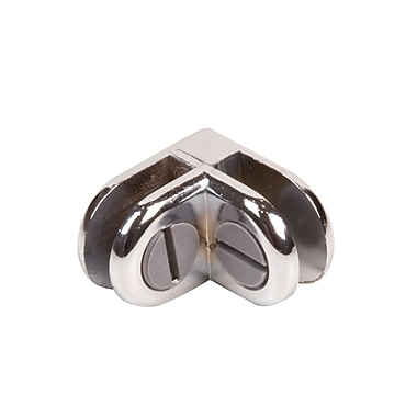 Econoco CON/2 2-Way Connector for Glass Cubbies, Black, Chrome