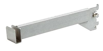 Econoco CR12-SC Hangrail Bracket, Rectangular Tubing, Satin Chrome