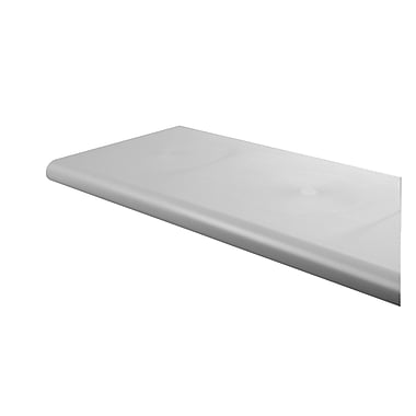 Econoco DA248/GY Duron Polystyrene Bullnose Shelf, Open Bottom, 13