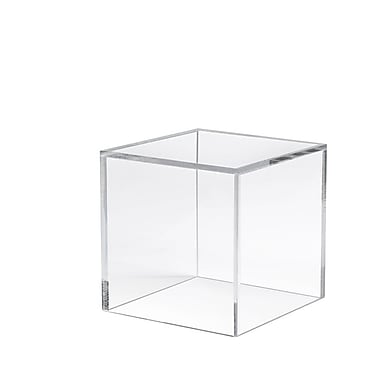 Econoco FF/DC0610 Acrylic Countertop Small Display Cube, Clear, 6