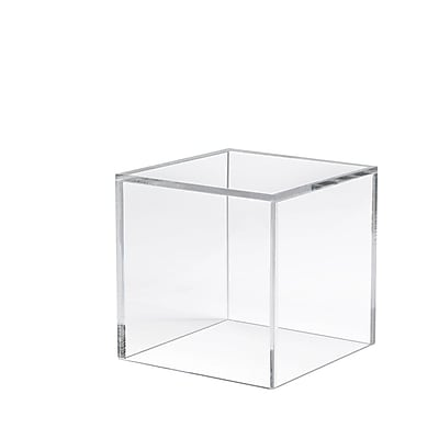 "Econoco 6""L x 6""W x 6""D Acrylic Countertop Small Display Cube, Clear, 12/Pack"