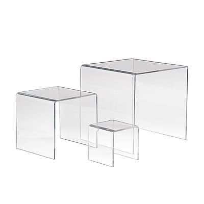 Econoco Acrylic Medium Display Riser, Clear, 3/Pack