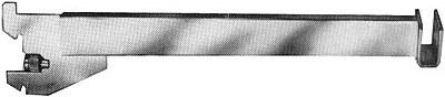 "Econoco GR12-SC 12"" Hangrail Bracket, 16 ga, Satin Chrome"
