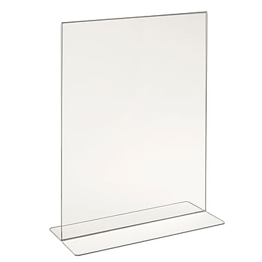 Econoco HP/CT114V Acrylic Double-Sided Bottom Load Countertop Sign Holder, Clear, 14