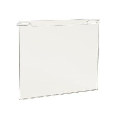 Econoco HP/SG811H Acrylic Horizontal Sign Holder, Clear, 8 1/2