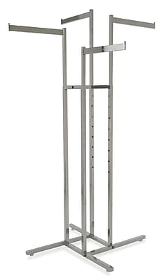 Econoco Square Tubing 4-Way Rack With Straight Arms, Chrome