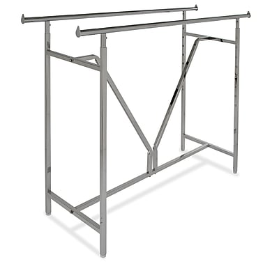 "Econoco K41 Heavy-Duty Double Bar Rack, 60"" x 22"", V-Brace"