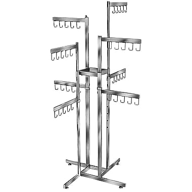 Econoco K88 Rectangular Tubing Handbag Rack, 2-Tier, Chrome