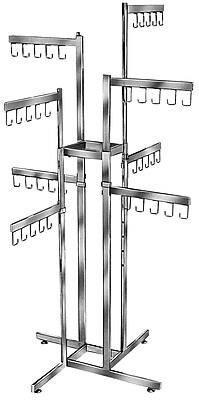 Econoco K88 Rectangular Tubing Handbag Rack, 2-Tier, Chrome