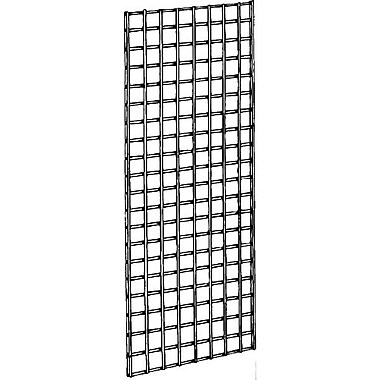 Econoco P3GW25 Gridwall Panel, Chrome, 5' x 2'
