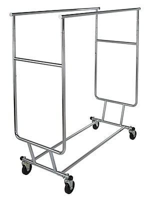 Econoco RCS/3 Double Round Tubing Collapsible Garment Rack, 48