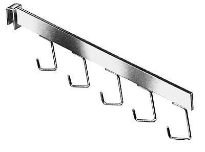 Econoco RH/5H 5-Hook Rectangular Tubing Waterfall Faceout, Chrome, Metal
