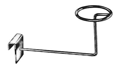 Econoco RH/ML Rectangular Tubing Millinery Displayer, Metal, Chrome