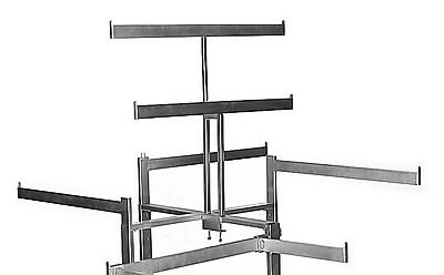 Econoco VM55-BT T-Style Double Bar Rack Topper, 27