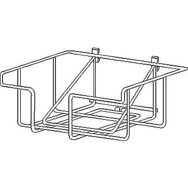 Econoco WSB2 Wire Literature Basket, Metal, Chrome
