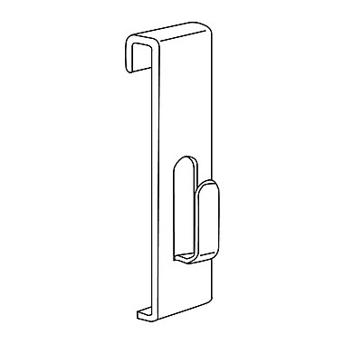 Gridwall Flush Hook, White